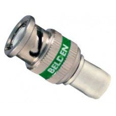 BELDEN BNC 3GHD COMPRESSION CONNECTOR GREEN 50 PACK