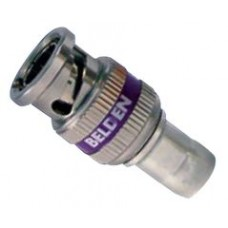 BELDEN BNC 3GHD COMPRESSION CONNECTOR PURPLE 50 PACK
